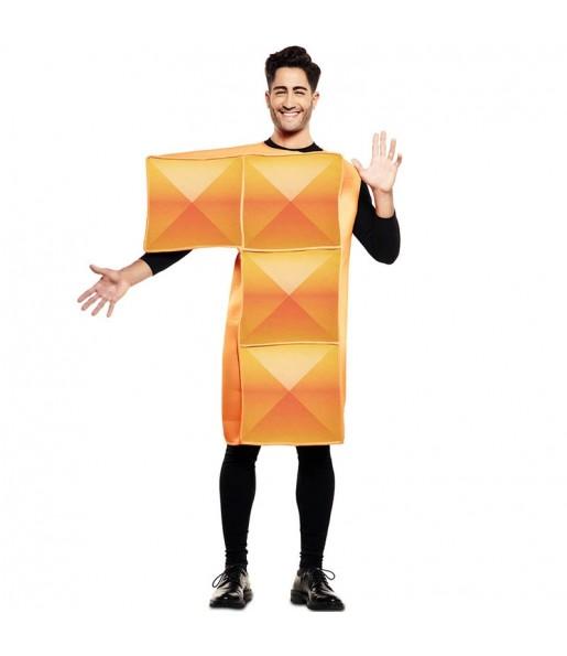 Disfraz de Tetris Naranja para hombre