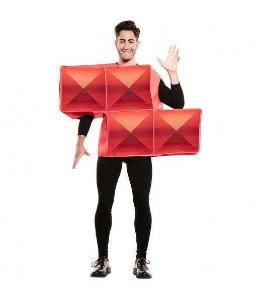 Disfraz de Tetris Rojo para hombre