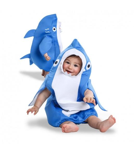 Disfraz de Tiburón azul para bebé