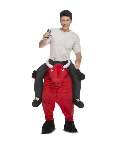 Disfraz de Toro Rojo a hombros adulto