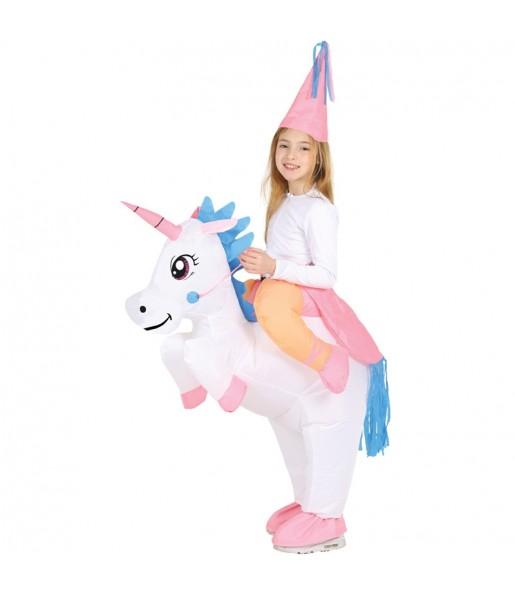 Disfraz de Unicornio a Hombros hinchable para niños