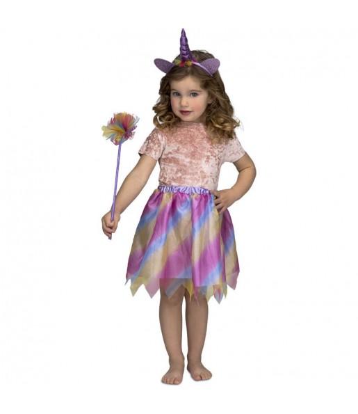 Disfraz de Unicornio Tutú morado para niña