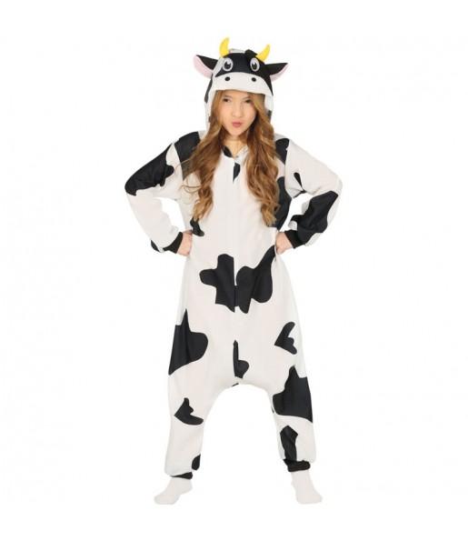 Disfraz de Vaca Kigurumi para niña