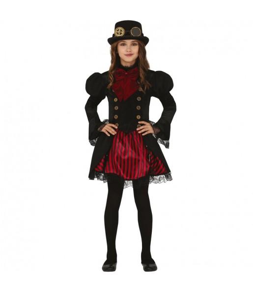 Disfraz de Vampiresa Steampunk para niña