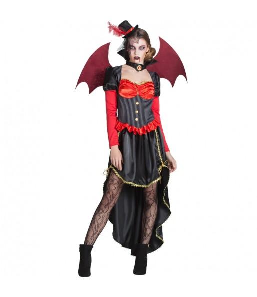 Disfraz de Vampiresa Victoriana con alas para mujer