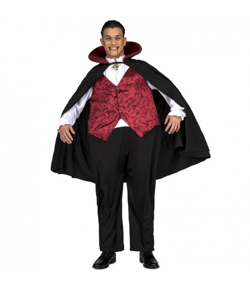 Disfraz de Vampiro Drácula Gordinflón para adulto