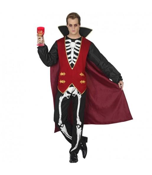 Disfraz de Vampiro Esqueleto para hombre