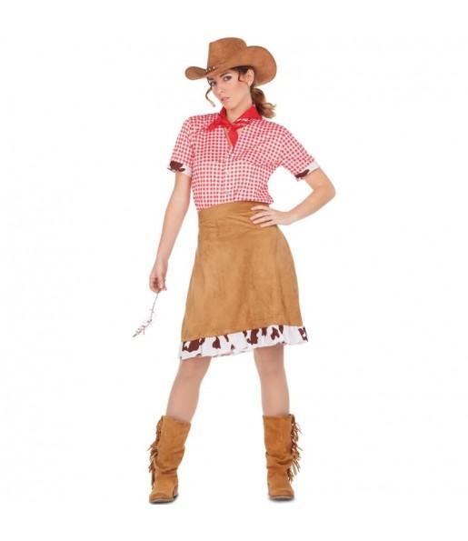 Disfraz de Vaquera Sheriff mujer farwest