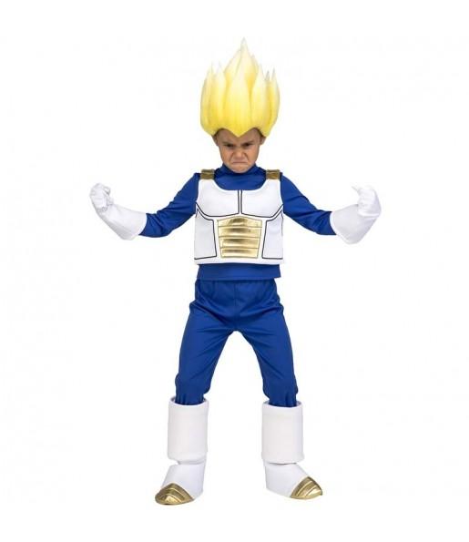 Disfraz de Vegeta Super Saiyan para niño Dragon Ball