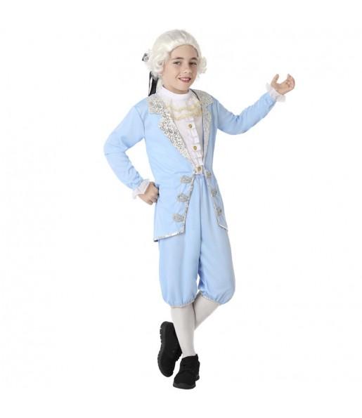 Disfraz de Veneciano Época azul para niño