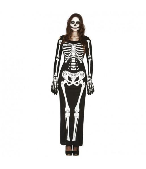 Disfraz de Vestido Esqueleto para mujer