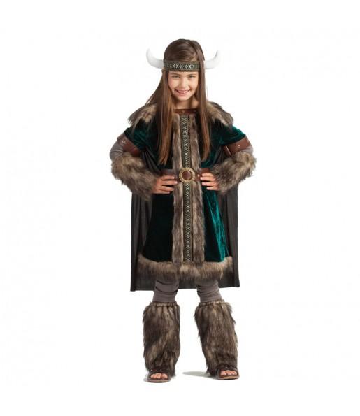 Disfraz de Vikinga Nórdica para niña