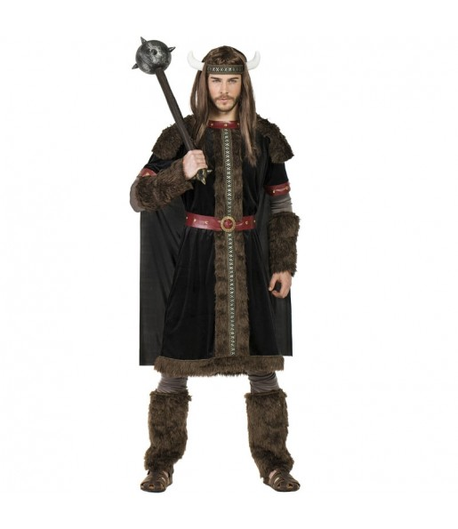 Disfraz de Vikingo Black para hombre