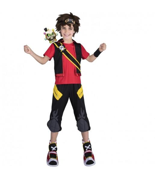 Disfraz de Zak Storm para niño Súper Pirata