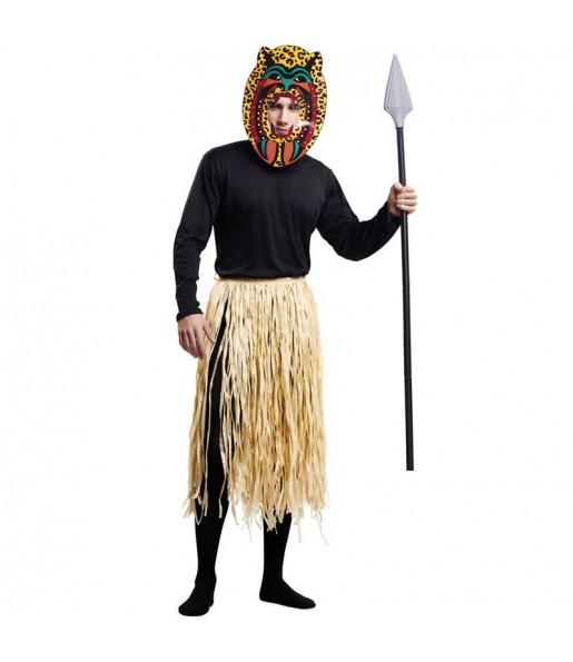Disfraz de Zulú Caníbal para hombre