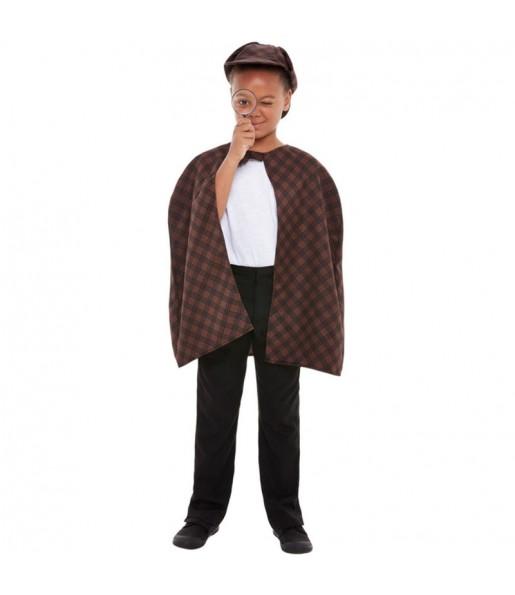 Disfraz de Detective Sherlock Holmes para niño