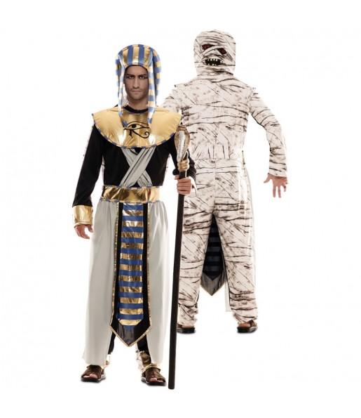 Disfraz Doble de Egipcio y Momia adulto