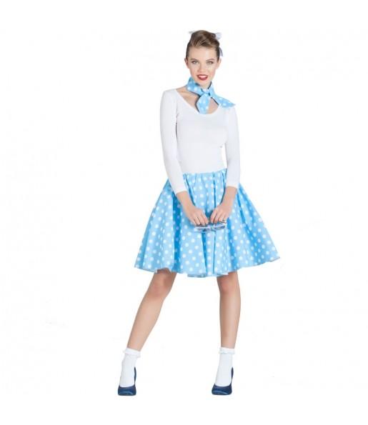 Disfraz Falda Años 60 – Azul