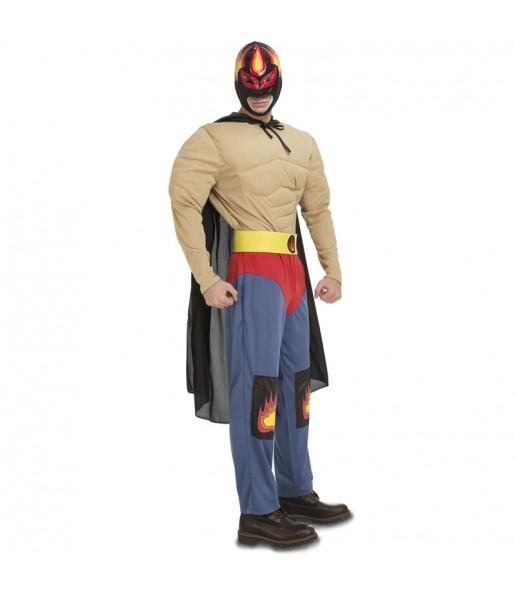 Disfraz de Luchador Mexicano Rey Mysterio para hombre