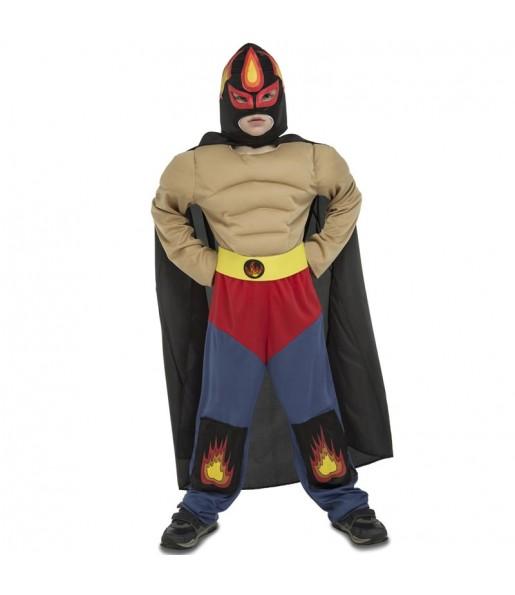 Disfraz de Luchador Mexicano Rey Mysterio para niño