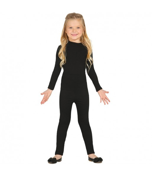 Disfraz de Maillot Negro Spandex infantil