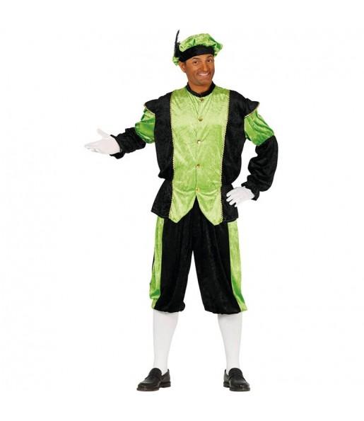 Disfraz de Paje Real Verde para hombre