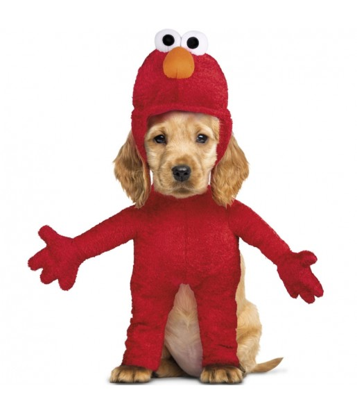 Disfraz para perros de Elmo Barrio Sésamo