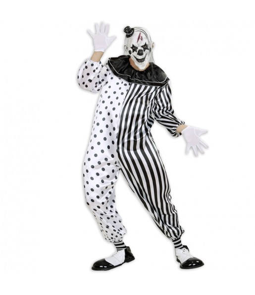Disfraz Payaso Pierrot Asesino para adulto