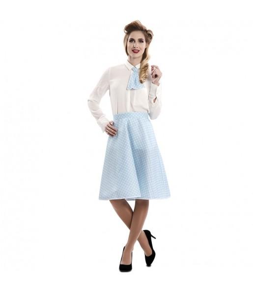 Disfraz de Pin Up Azul para mujer