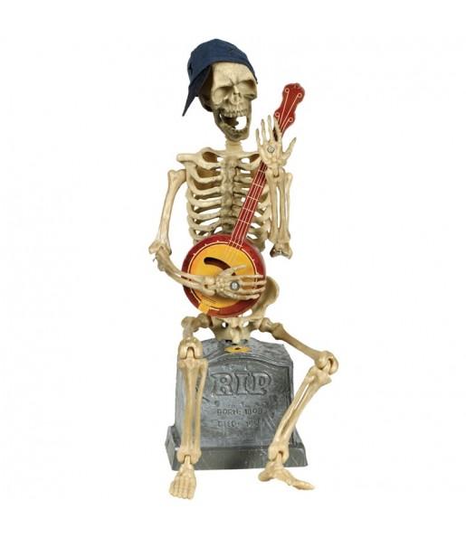 Esqueleto con banjo decoración