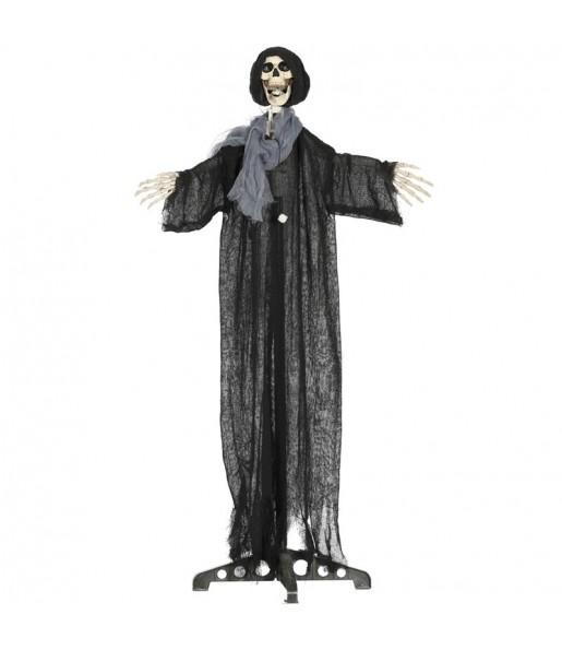 Esqueleto decoración con capucha