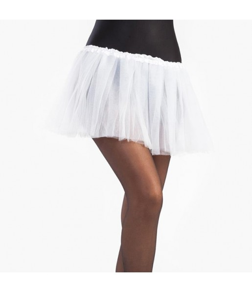 Falda tutú blanco niña