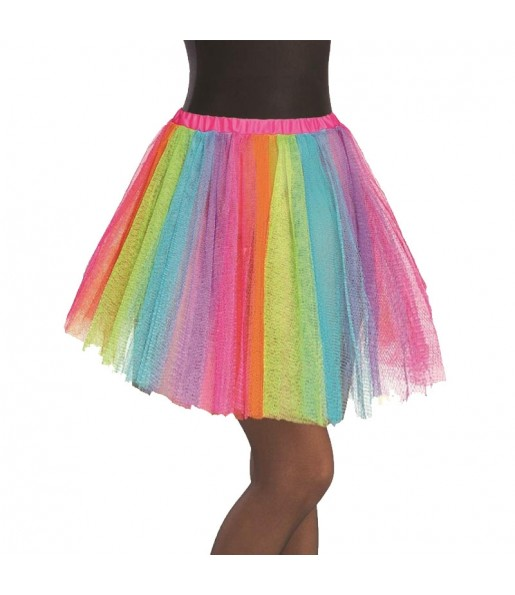 Falda tutú multicolor mujer
