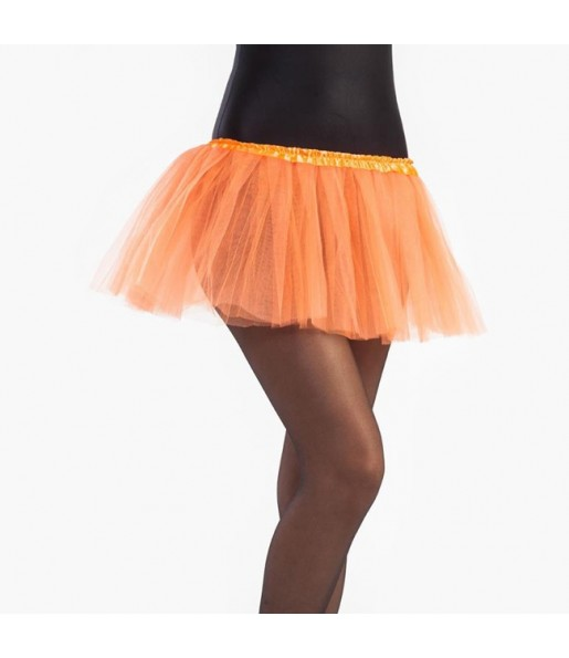 Falda tutú naranja niña