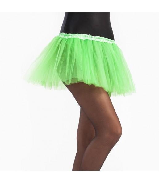 Falda tutú verde lima niña