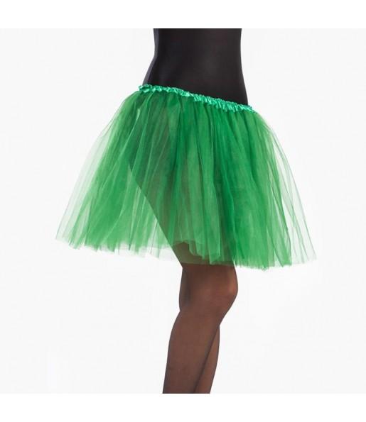 Falda tutú verde oscuro mujer