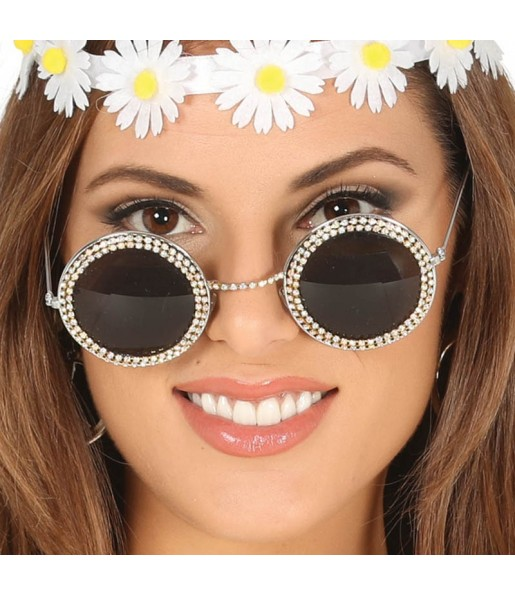 Gafas Hippie con Brillantes