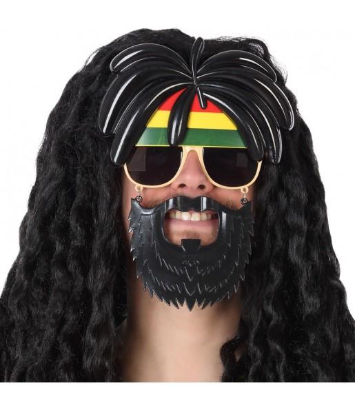 Gafas Rastafari con barba