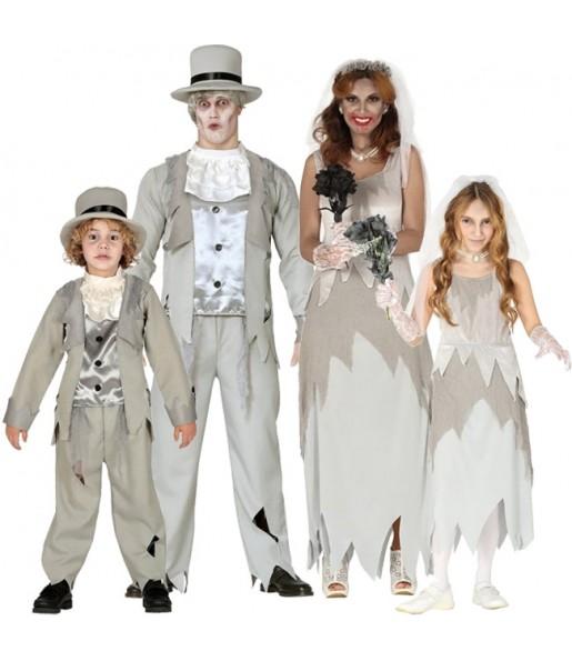 Grupo disfraces Novios Fantasmas