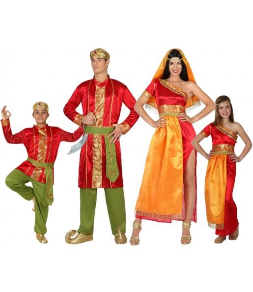 Grupo Disfraces de Hindúes bollywwod