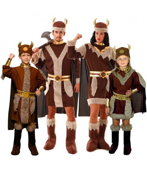 Grupo disfraces de Vikingos
