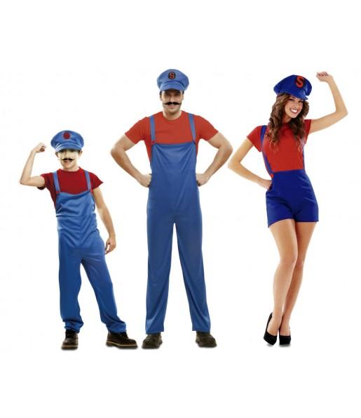 Grupo Disfraces de Super Marios Bros