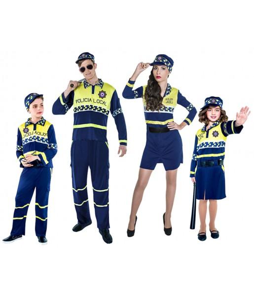 grupo disfraces policías locales