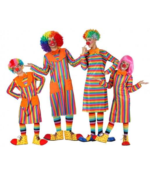 Grupo Payasos Rayas Multicolor