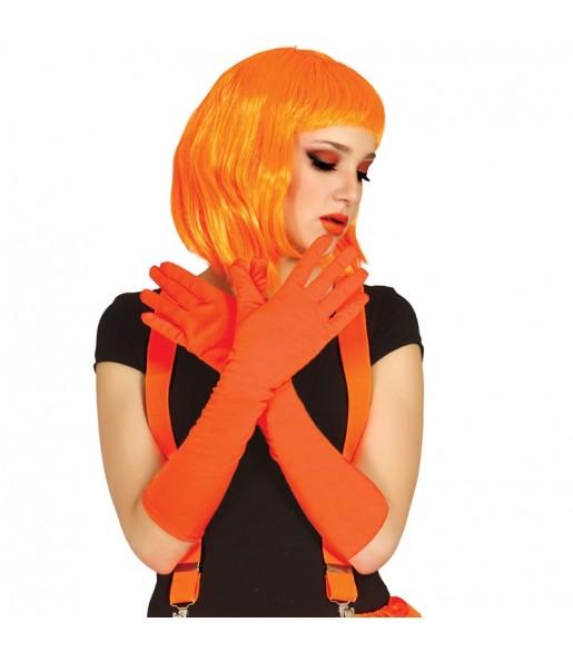 Guantes largos Naranja
