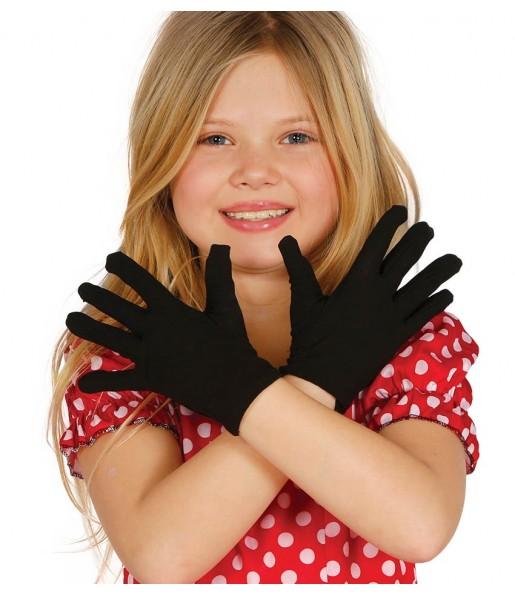 Guantes negros infantiles 17 cm