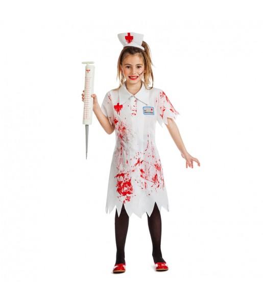 Disfraz de Enfermera Niña Zombie