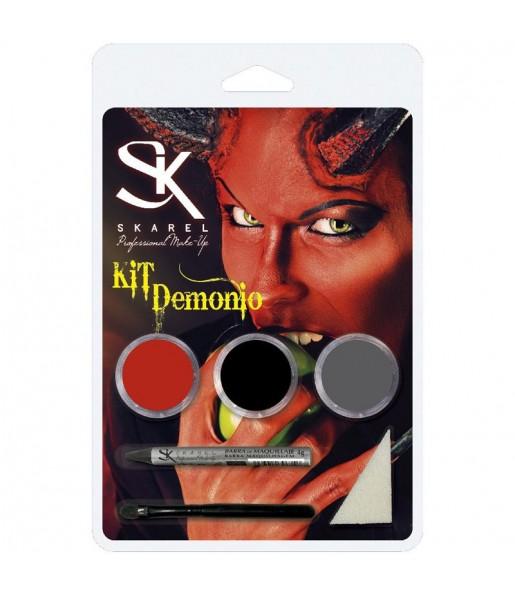 Kit Maquillaje Demonio Halloween