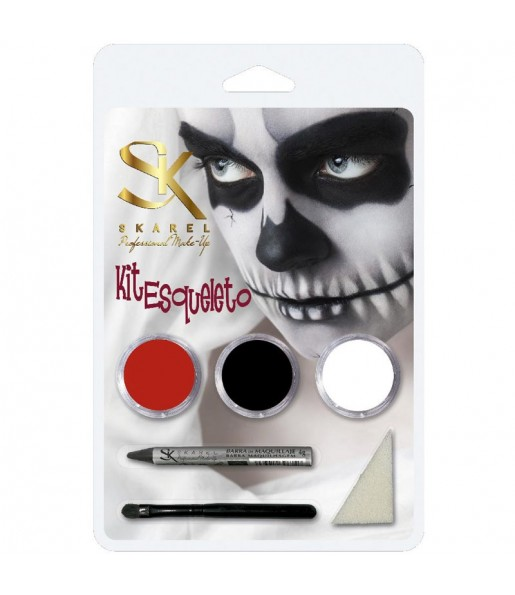 Kit Maquillaje Esqueleto Halloween