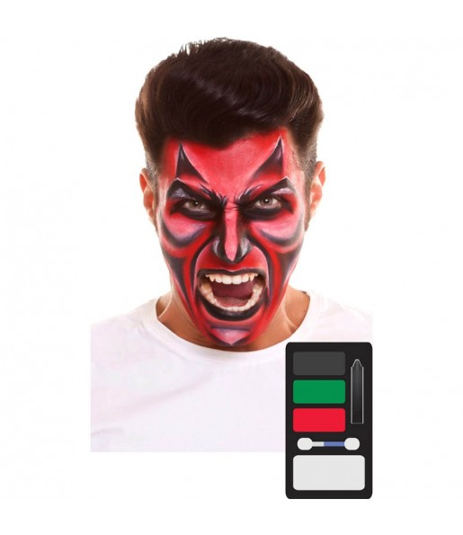 Paleta Maquillaje de Demonio Halloween